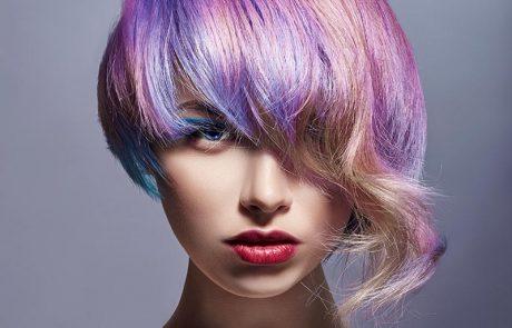Renkli Küt Saç Modeli